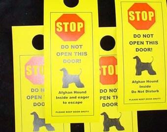 Afghan Hound's Friendly Alternative to Beware of Dog