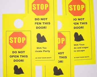 Keep Shi Tzu Safe with the Better Alternative to Beware of Pet Sign