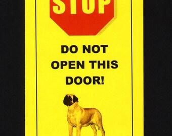 Dangerous English Mastiff Inside - Has Killed Squeaky Toy