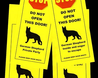 German Shepherd's Friendly Alternative to Beware of Dog signs