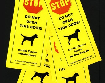 Border Terrier's Friendly Alternative to Beware of Dog Signs