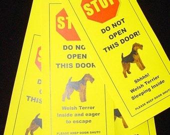 Welsh Terrier's Friendly Alternative to Beware of Dog