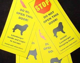 Leonberger's Friendly Alternative to Beware of Dog Signs Keeps Dog Safe