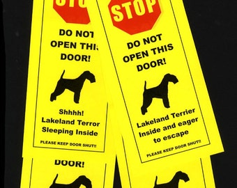 Lakeland Terrier's Friendly Alternative to Beware of Dog Signs