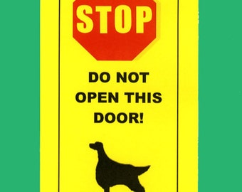 Kiss Me, I'm Irish. If you have an Irish Dog Breed, You Want this Friendly Door Alert
