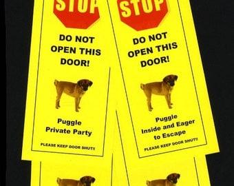 Puggle's friendly Alternative to Beware of Dog Sign Keeps Dog Safe