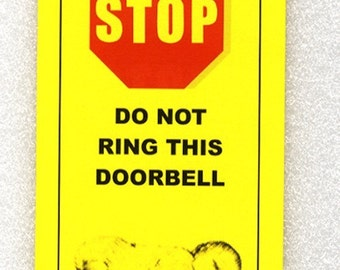 Baby Sleeping- Solicitors Will Be Tarred and Diapered - Do Not Ring Doorbell sign