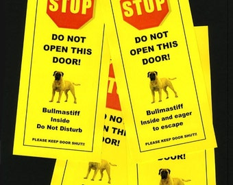 Bullmastiff's Friendly Alternative to Beware of Dog Signs