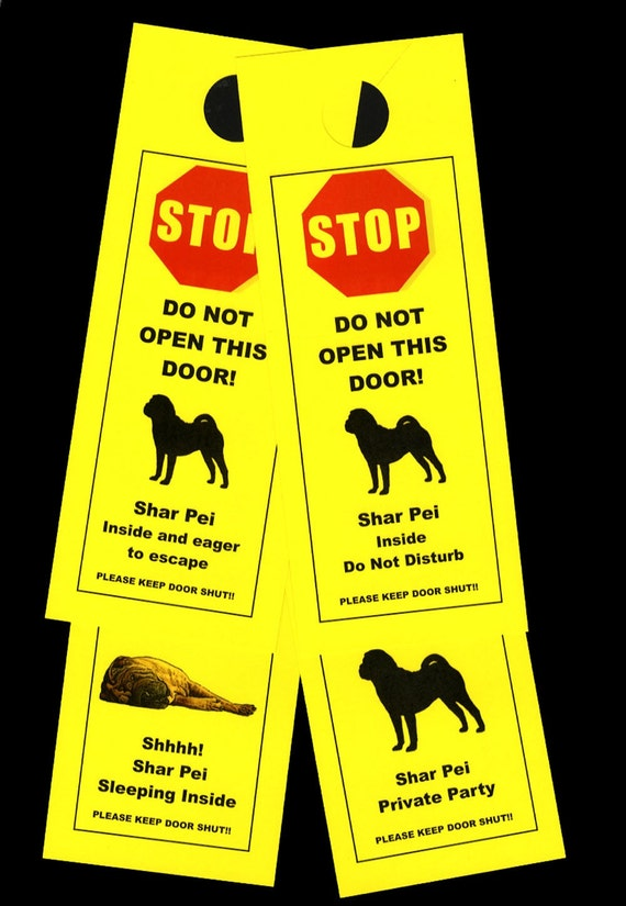 Shar Pei's Friendly Alternative to Beware of Dog signs Keeps Dog Safe