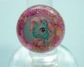 My Little Pony Blue Glitter Resin Ring