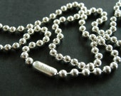 sterling silver 3mm ball chain necklace, sterling silver .925 chain, unisex chain, men, women, bead ball chain