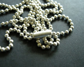 sterling silver 2mm ball chain, .925 ball chain, bead chain necklace, 16 18 20 22 24 26 28 30 inches