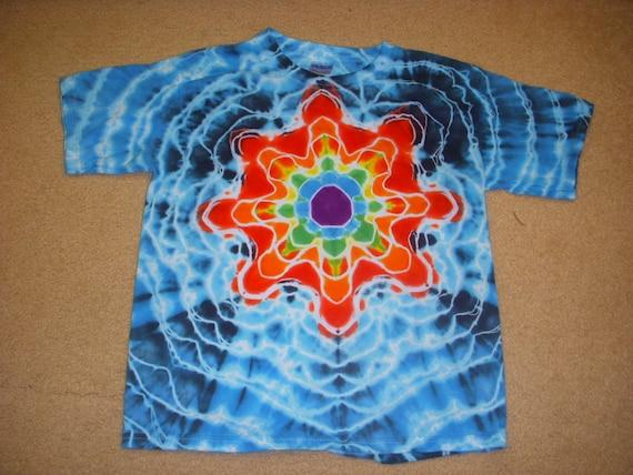 Ym Tie Dye T Shirt Mandala Design Youth Medium 10 12