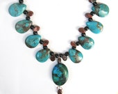 HandMade Turquoise and Chrysocolla Necklace.