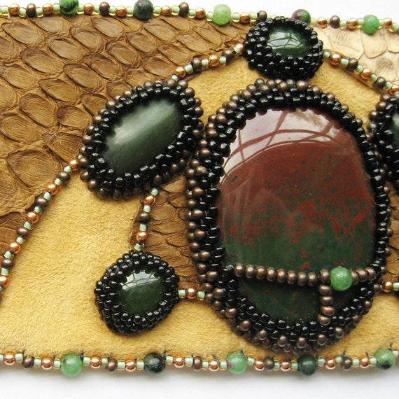 Reserved for linda bead embroidery leather semi by