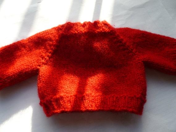 Hand knit Teddy Bear Doll Sweater
