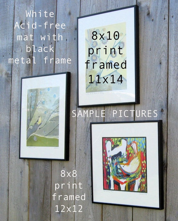 11 X 14 Inch Frame And White Acid Free Mat For 8 X 10 Opening