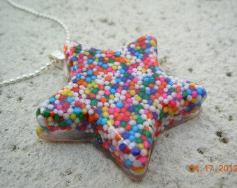 Sugar High Candy Star Resin Necklace