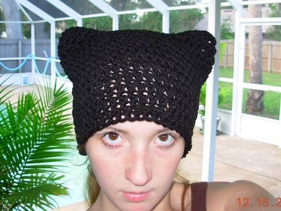 SALE Purrfect Kitty Ear Hat-In Basic Black