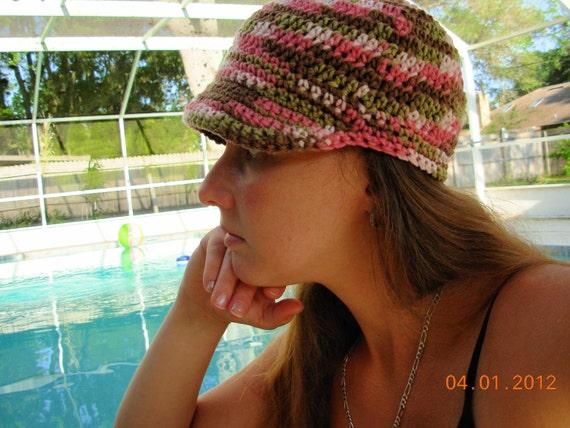 SALE TODAYNewsboy Hat -Pink Camo