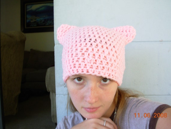 CLEARANCE-Purrfect Kitty Cat Eared Hat-Petal Pink