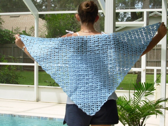 CLEARANCE-Triangle Shawl In Baby Blue