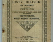 Two Antique Paper Back books in Polish for Art Supplies