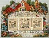 Vintage 1928 Die Cut Christmas Calendar