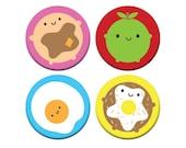 Kawaii Breakfast Badge Set - Look Around