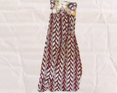 SALE / bandeau maxi in floral and ziggy / small