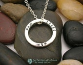 Hand Stamped Jewelry • Personalized Necklace • Sterling Silver Necklace • Eternity Ring of Names