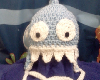 Crochet SHARK hat Custom Size
