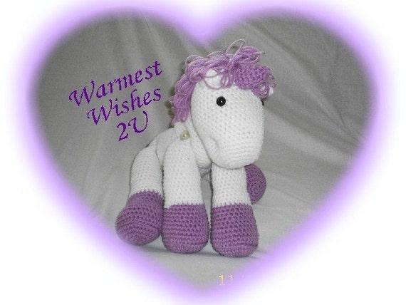 Crochet Magical UNICORN Stuffed Toy- Custom colors