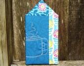Art Quilt - Coffee House - Blue