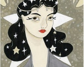 Remember me Remarkable 8x10 celestial vintage inspired print by Amanda Atkins