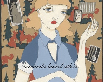 The Language of Foxtrot print - vintage woman cabin inspired by Amanda Atkins