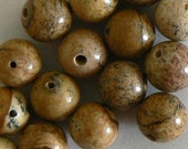 SALE 40 8mm Picture Jasper Natural Round Beads Jewelry