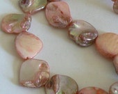 SALE 16inch AB Finish Mother of Pearl Beads Nugget Beads Gold Sunset 3