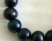 SALE 15inch Large 11-12mm AA Grand Natural Freshwater Pearl Beads Potato Black b2500