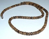 SALE 1 16inch 6mm Brown Coca Wood Natural Beads Strand Necklaces