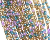 One Hank 11/0 Czech Seed Beads Multicolor  Mix1
