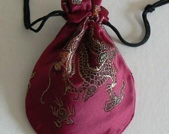 1 Dragon Design Silk Jewelry Bag