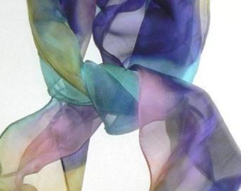 26 x 26 Hand Made Silk Scarf Bandana Soft Tone