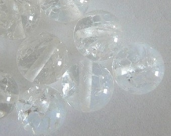 7PC 8mm Natural Rock Crystal Round Beads 1