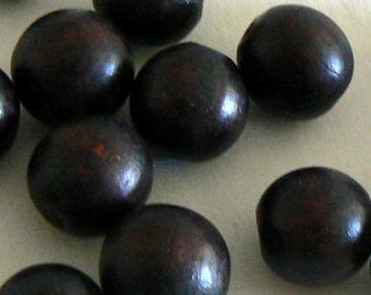 50 12mm Wood Beads Round Brown High Quality Jewelry Design Making Matte b2532