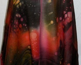 Rainbow Pashmina Shawl Wrap Scarf Hand Painted