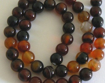 16inch 8mm Natural Red Agate Round Beads Gemstone Bead b1215