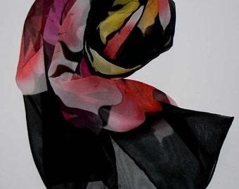 Handmade Silk Scarf Hand Rolled Edges