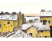 Rooftops in Prague - 5 x 7