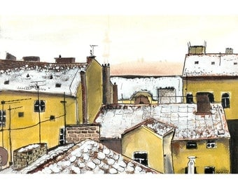Rooftops in Prague - 5 x 7